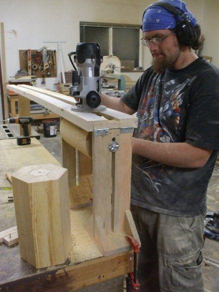 How to make a fluted pillar