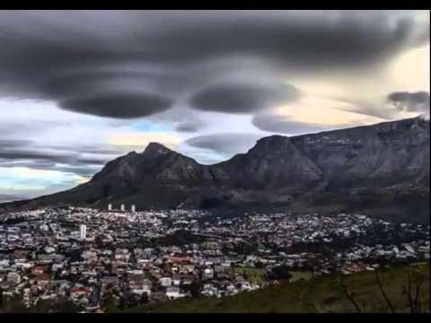 Nuvens lenticulares nuvens OVNIs na África do Sul