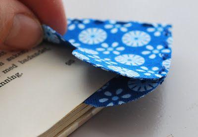 Heart Bookmarks from left over fabric. Tutorial is in German: Kleinigkeiten: Lesezeichen