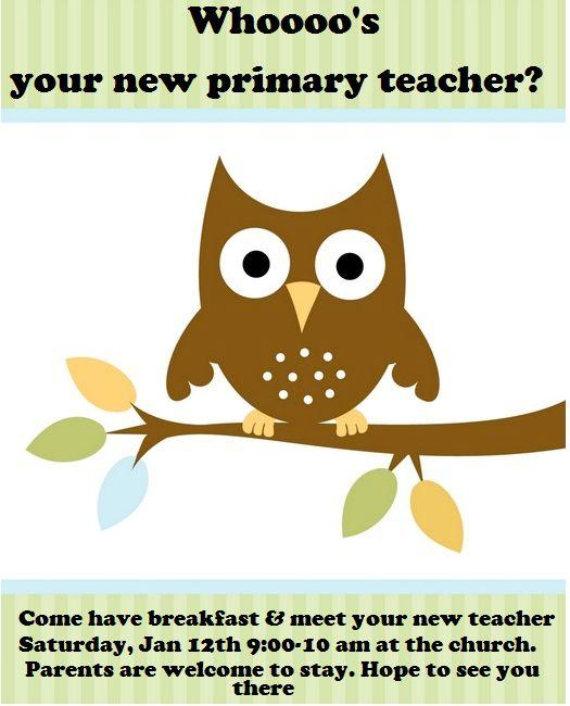 """CONTROLLING Craziness: """"Meet Your Teacher"""" Primary Breakfast"""