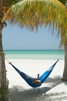 Isla Holbox, Quintana Roo, Mexico; beach area in front of Posada Mawimbi
