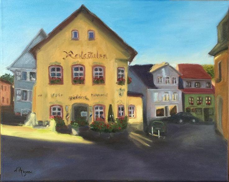 Königstein im Taunus - Ratstuben Restaurant by Karen d'Angeac Mihm Oil ~ 40 x 50cm