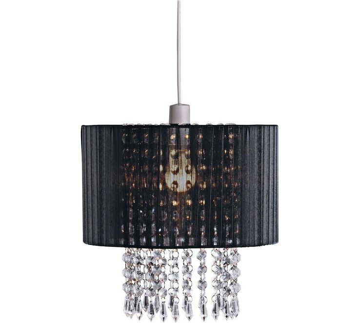Lamp shades uk 25 pinterest buy collection grazia voile droplets shade black at argos visit mozeypictures Choice Image