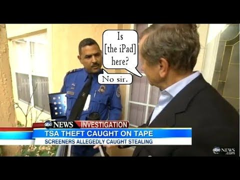TSA Agent Gets Caught Stealing iPad, Blames His Wife