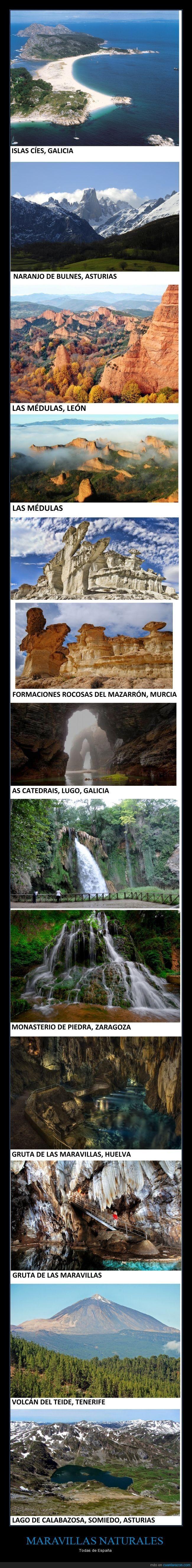MARAVILLAS NATURALES - Todas de España