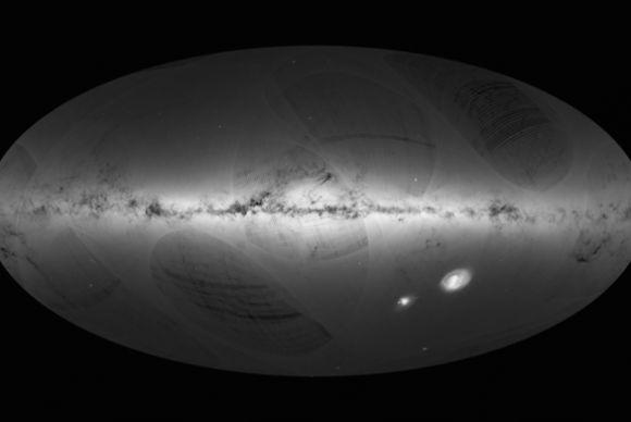 Mapa da Via Láctea revela detalhes de 1 bilhão de estrelas
