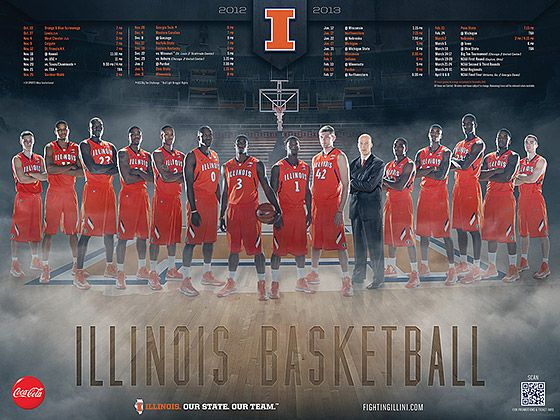 Illini Basketball: 2012-2013 Illini Basketball Poster - IllinoisLoyalty.com