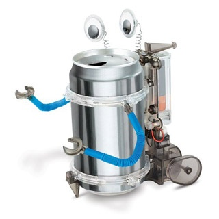 Tween Gift: Tin Can Robot. Turn a soda can into a moveable robot.