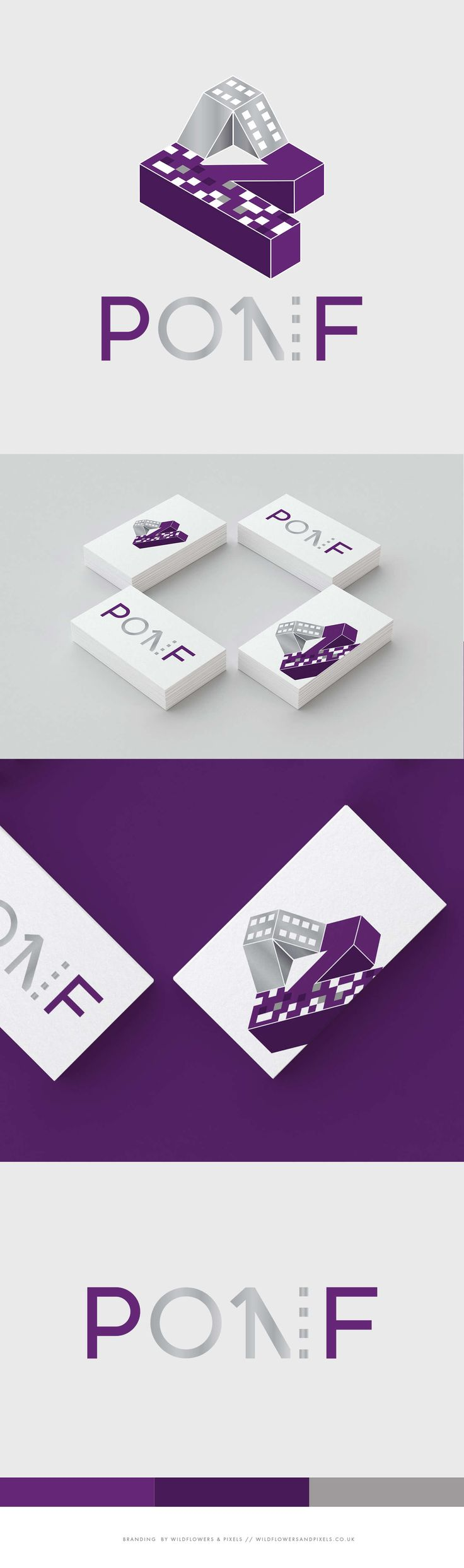 PONF or Photography on Film is a Multiback camera. Escher style logo design.