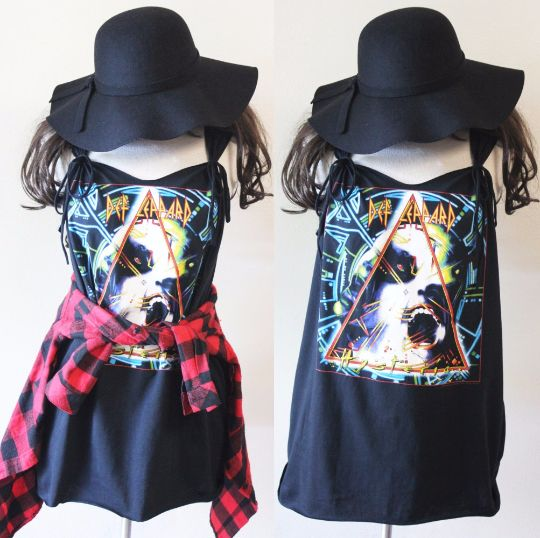 #DefLeppard mini dress S-XL Black We can custom like this picture with your own shirts or our t-shirts .