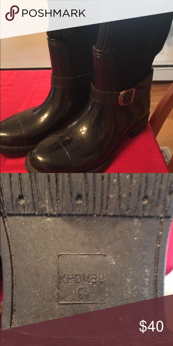Khombu boots Water resistant and warm.  Worn once, too big. EUC Khombu Shoes Winter & Rain Boots