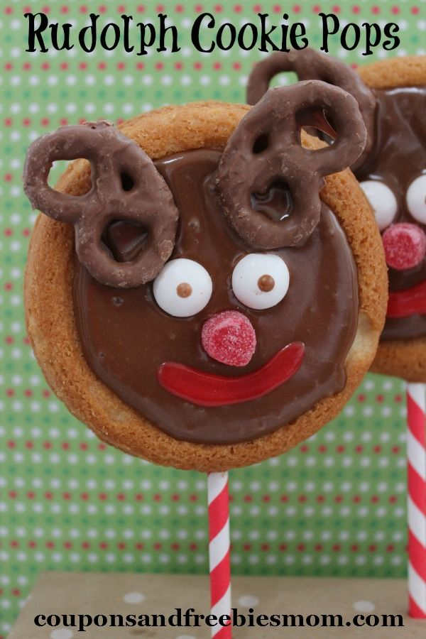 When it comes to classic Christmas treats you can't leave Rudolph the Red Nosed Reindeer out of the picture.  These Rudolph Cookie Pops are such a fun and whimsical treat to create for your kids!  Put these together and share with your child's classroom party for the holidays this week!