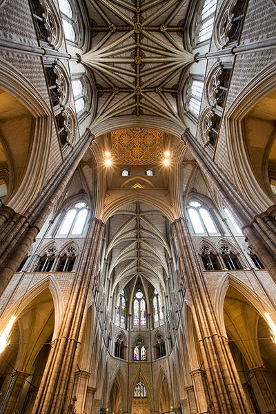 Westminster Abbey's famous vaulted ceiling rarely fails to inspire awe in visitors.  Photo © David Levene.
