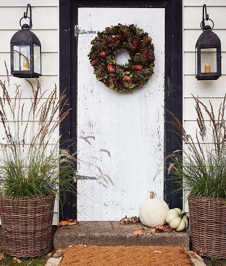 An earthy & autumnal front door