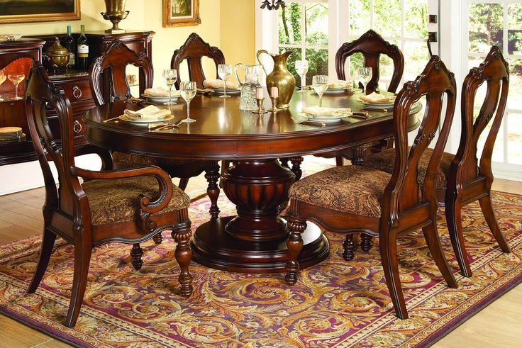 Prenzo Collection Round / Oval Pedestal Dining Table 1390-76