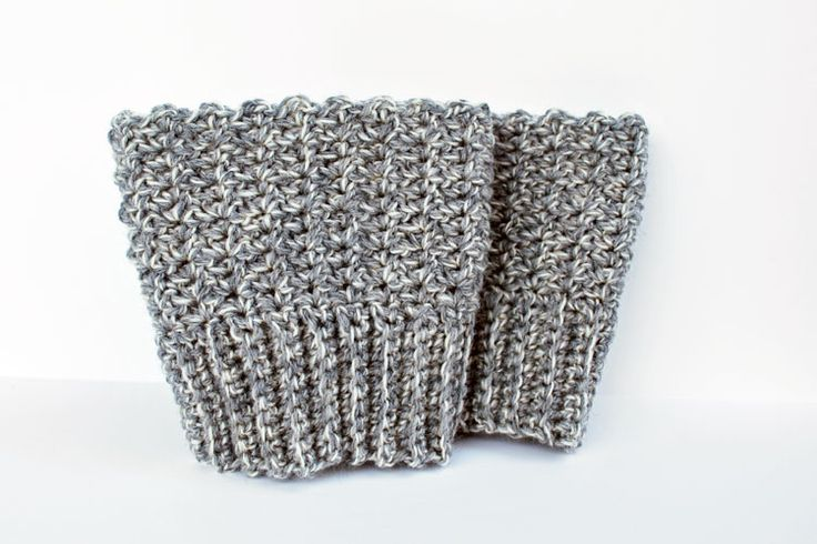 Reversible Crochet Boot Cuffs Free Pattern - inspirednest.ca