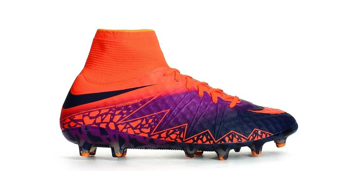 Botas de fútbol Nike Hypervenom Phantom II AG-PRO - Rojo Carmesí / Púrpura Vivid - Exterior pie derecho