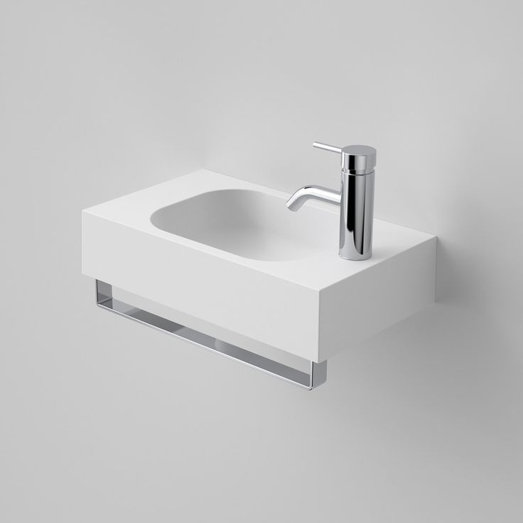 The Caroma Sunstone 450 Solid Surface Hand Wall Basin Australia Wide At Blue E Range Of Hung And Mounted Basins Online