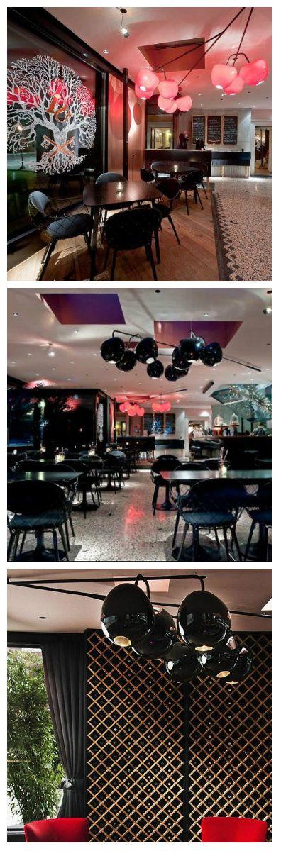 Оригинальный дизайн светильников для баров и ресторанов Любляны разработал Ника Жупанч. По своей форме они напоминают огромные красные вишни и черные оливки. Светильники смотрятся очень гламурно, и в тоже время довольно просто, они отлично вписываются в интерьеры ресторанов.