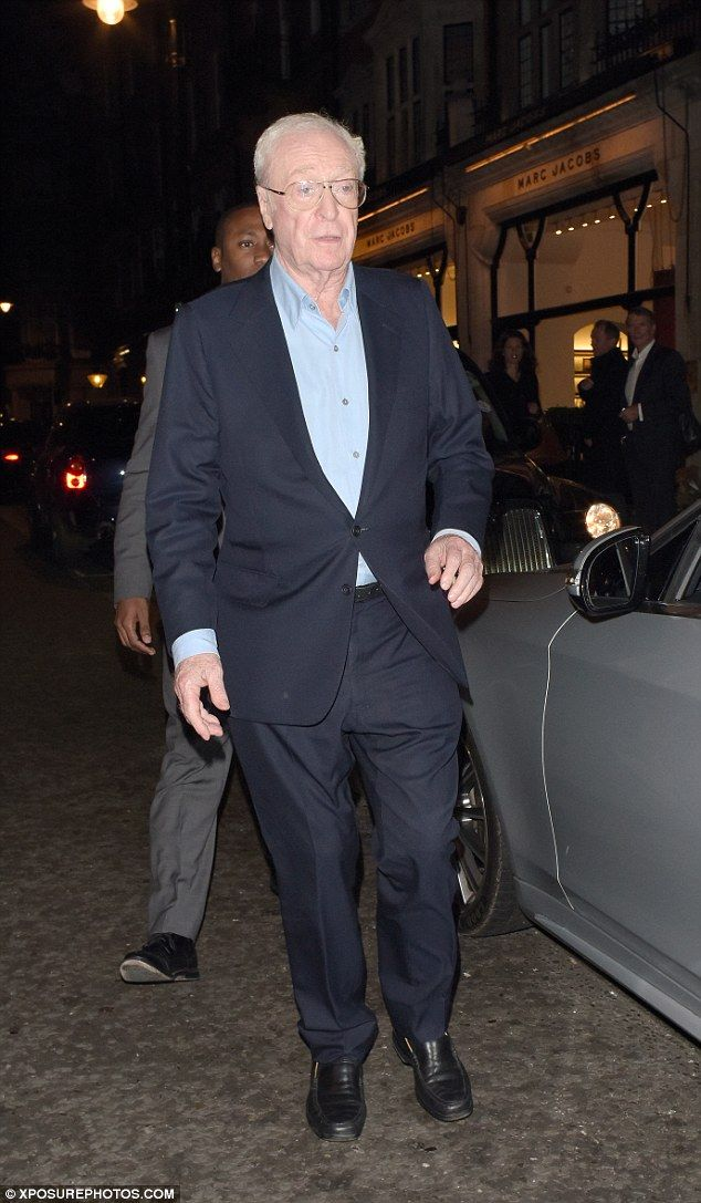 Still dapper! Michael Caine and his wife Shakira proved they're still keen to make the effort for one another as they left Scott's restaurant in London on Monday night