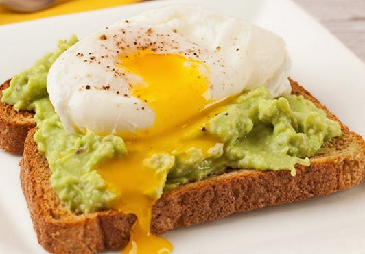 Avocado Toast with Sunny Side Egg | Weight Watchers Recipes