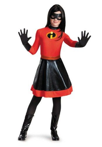 this tween incredibles violet costume makes it easy to become invisigirl from the disney pixar movie girl halloween