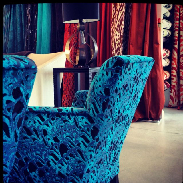 Velvet Feathers Chair Fabric By David Rockwell For Jim Thompson Hutton Fox