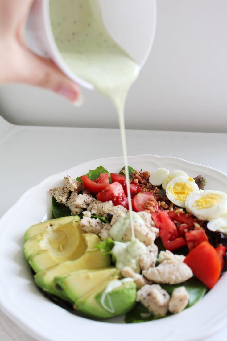 Panera Copycat Green Goddess Cobb Salad // octoberjune.com