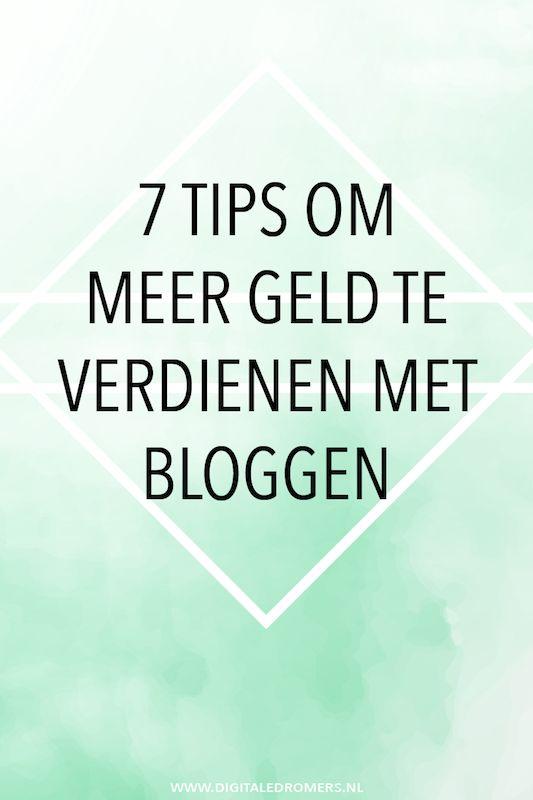 Wil je geld verdienen met bloggen? Gebruik dan deze 7 tips om meer uitkomen uit je blog te halen, óók als je nog een kleine blogger bent.