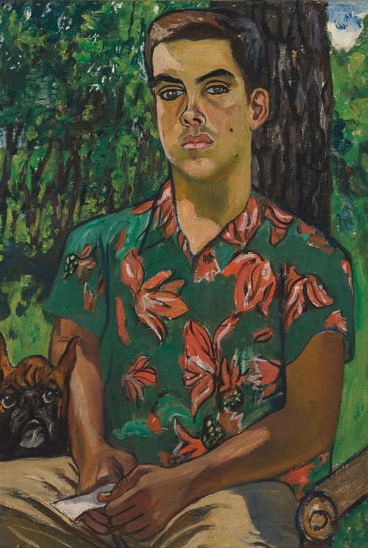 somanyhumanbeings:  Alice Neel, Richard with dog (1954)