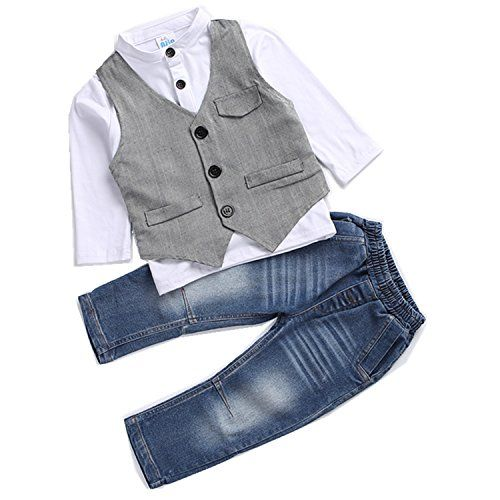 AJia® Kids Boys Clothing Shirt and Vest Jeans Sets For 2 to 5 Years Toddler Boy (2T) AJia http://www.amazon.com/dp/B019U8Q0EM/ref=cm_sw_r_pi_dp_Ah7Nwb0RHBJR1