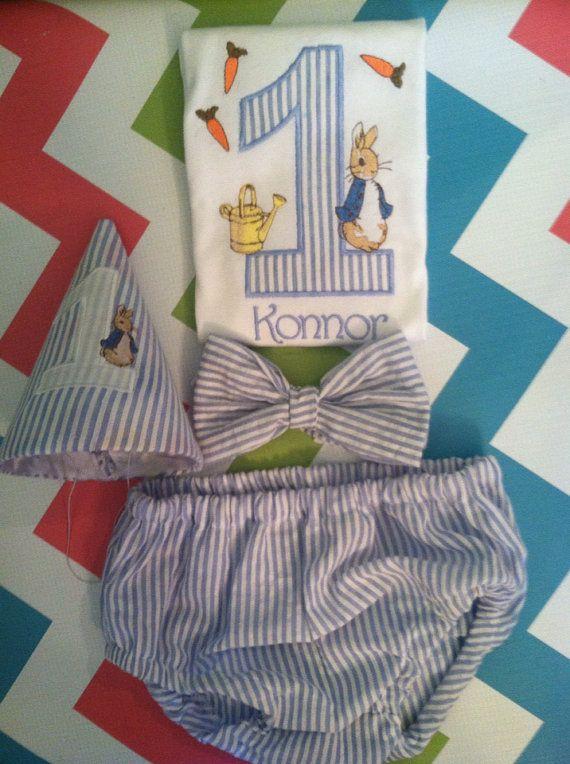 Peter rabbit birthday, smash cake, birthday outfit, peter rabbit hat, peter rabbit party on Etsy, $25.00