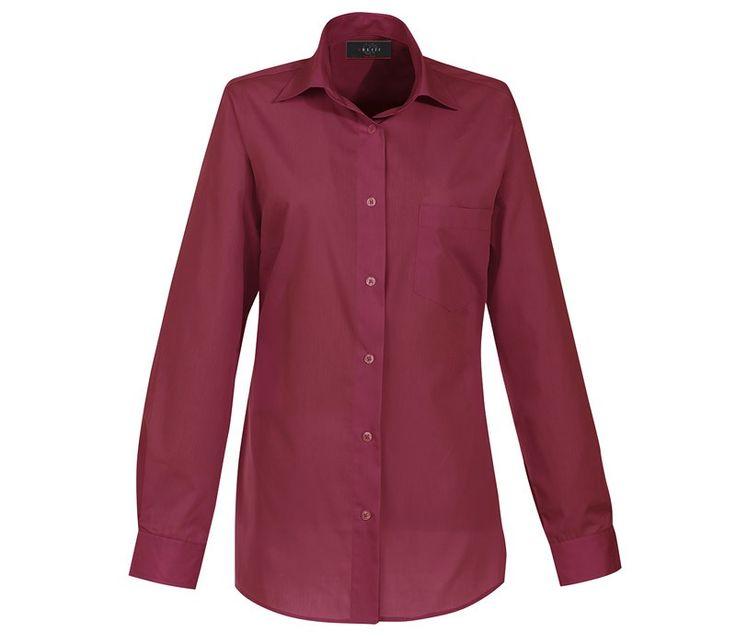 Overhemd voor haar met lange mouw, easy care