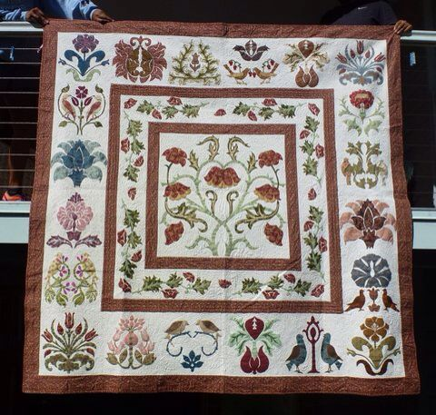 Pattern by Michelle Hill   - Friends - from the book William Morris in Applique