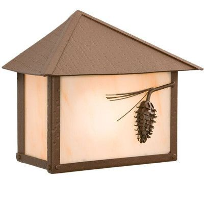 Steel Partners Ponderosa Pine 1 Light Outdoor Flush Mount