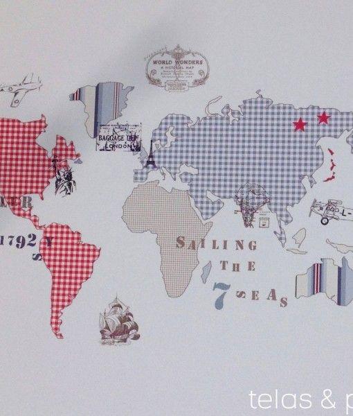 Las 25 mejores ideas sobre papel pintado juvenil en - Papel pintado mapa ...