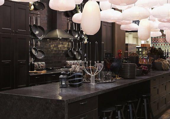 black brown kitchen cabinets - Google Search