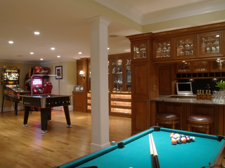 Best Game Room Billiards Images On Pinterest Game Rooms - Garage games room ideas