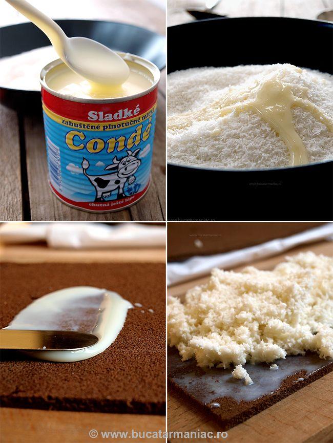 Petit fours cu crema de lapte si cocos   Bucatar Maniac