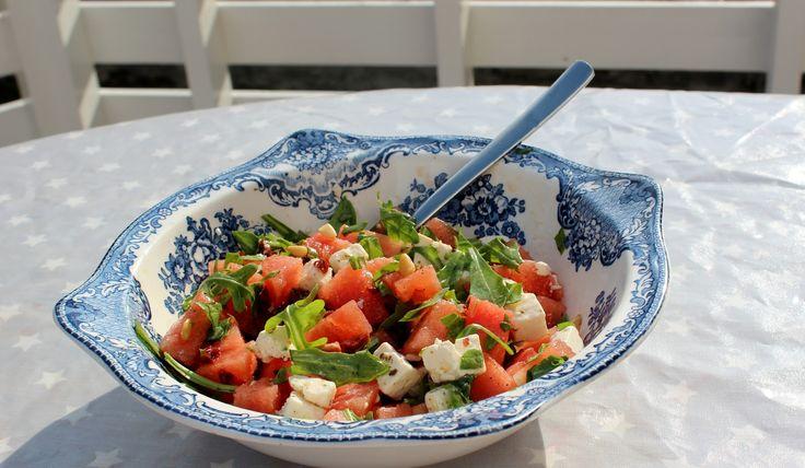 Monicas Matverden: Salat med vannmelon og fetaost