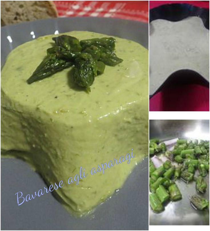 Bavarese con asparagi , facile e gustoso ! #antipasto #ricettegustose #ricette #gustose #recipe #receta #food #starter #appetizer #espárragos #asparagus