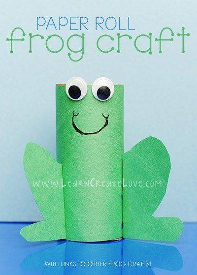 Toilet Paper Roll Frog   25 Toilet Paper Roll Crafts