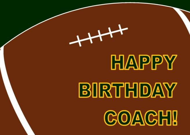 Football Coach Happy Birthday From All Of Us Card Ad Sponsored Coach Football Happy Car Happy Birthday Football Happy Birthday Coach Football Coach