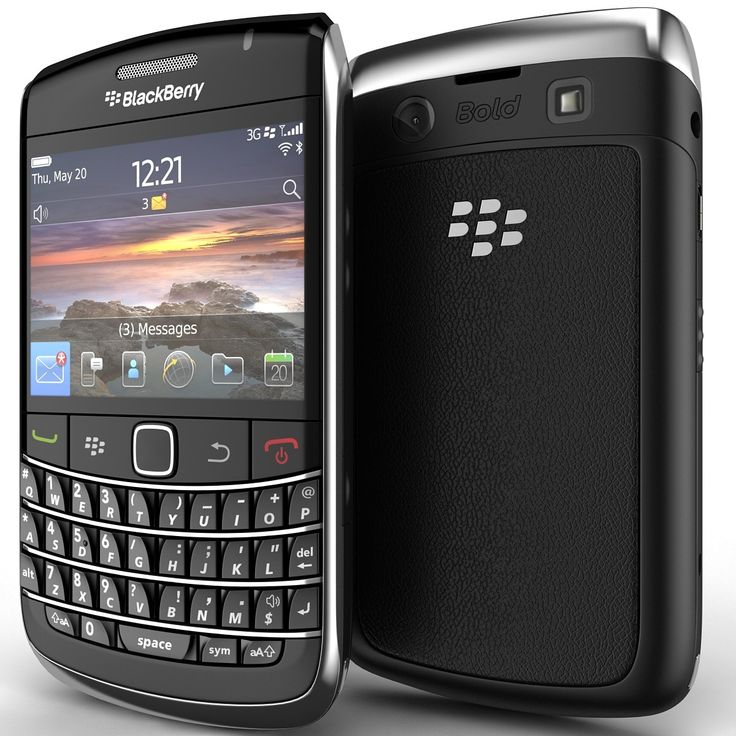 Blackberry Bold 9780 3D Model - 3D Model