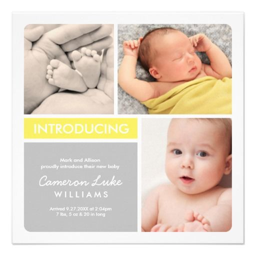 19 best Modern Baby Announcement Cards  Invitations images on