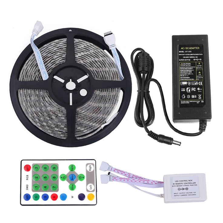==> [Free Shipping] Buy Best Horse Race LED Strip Waterproof 5M 54led/m SMD5050 DC 12V IR Remote Controller 5A Power Adapter Chasing Dream Color LED Tape Online with LOWEST Price | 32731082656