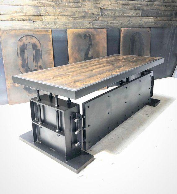Foster desk en 2019 rafa muebles de metal muebles for Muebles industriales metal baratos