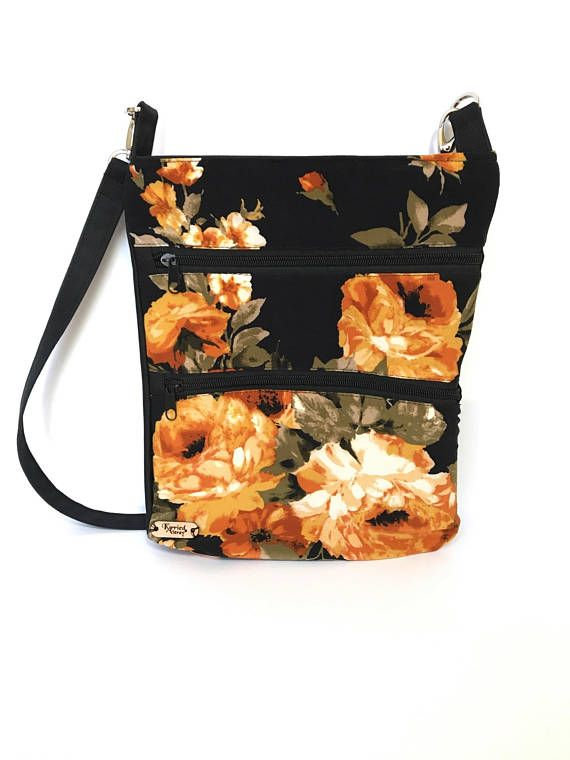 Floral shoulder bag, Floral Crossbody bag, Floral purse, Cross shoulder bag, Crossbody bags, Over the shoulder purse,  Hipster bag, Side bag