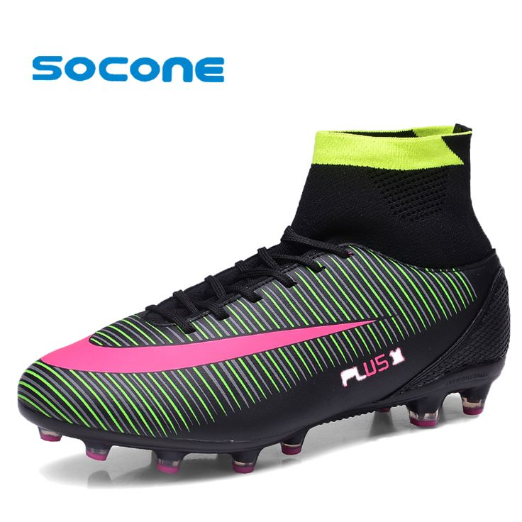 ==> [Free Shipping] Buy Best Socone Football Boots With High Ankle High Top Soccer Shoes Long Spikes Training Football Shoes Hard-wearing Sports Shoes Online with LOWEST Price   32805486342