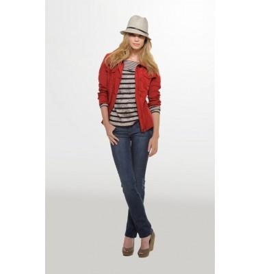 Ψηλόμεσο τζην παντελόνι σε ίσια γραμμή, 1-300810  denim jeans trousers women's fashion